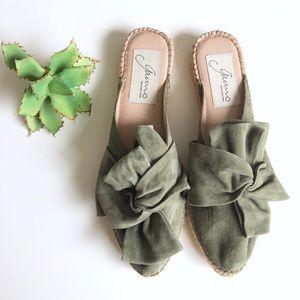 ☀️SALE Spanish Handmade Green Knot Espadrilles